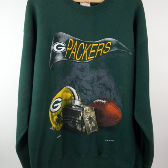 detailing f0c0d c98ac VTG 90s Nutmeg NFL Green Bay Packers Sweatshirt XL